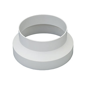 Wickes Round Ducting Reducer 125 to 100mm
