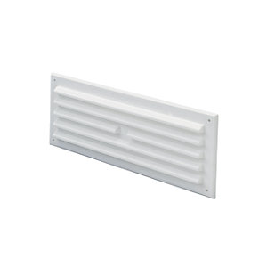 Wickes White Louvre and Flyscreen 225x75mm