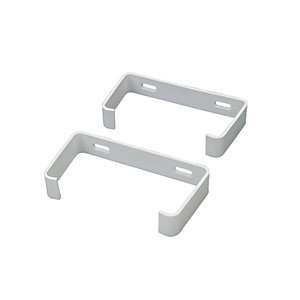 Wickes Rectangle Ducting Pipe Clips Pack 2