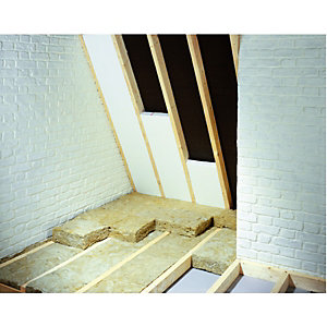 Wickes 60mm Polystyrene Rafter Insulation Board 0.74 M2 Pack 3