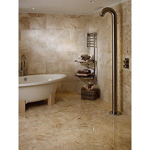 Wickes Cappuccino Polished Marble Wall & Floor Tile 610 x 305mm