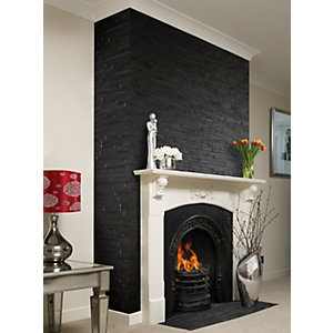 Wickes Split-face Black Mosaic 100 x 360mm