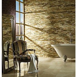 Wickes Split-face Oyster Mosaic 100 x 360mm