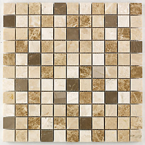 Wickes Milano Mix Polished Mosaic Tile (23 x 23mm) 305 x 305mm