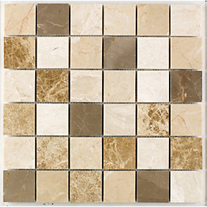 Wickes Milano Mix Polished Mosaic Tile (48 x 48mm) 305 x 305mm