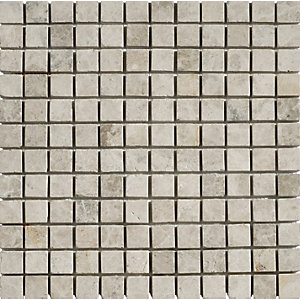 Wickes Silver Shadow Tumbled Mosaic Tile (23 x 23mm) 305 x 305mm