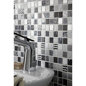 Wickes Santiago Mix Mosaic Tile 305 x 305mm