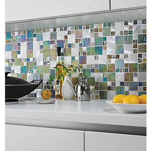 Wickes Iridescent Modular Mosaic Tile 300 x 300mm