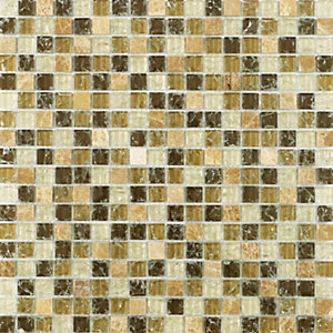 Wickes Ice Cracked Sahara Mosaic Tile 300 x 300mm
