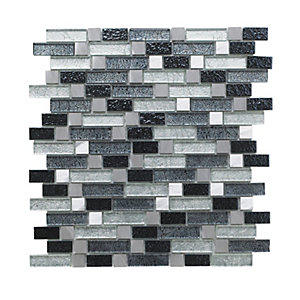 Wickes Atlas Fusion Random Length Mosaic Tile 260 x 280mm