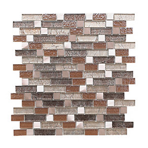 Wickes Atlas Gold Random Length Mosaic Tile 260 x 280mm