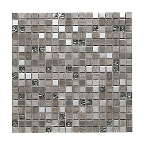 Wickes Cedar Grey Mix Mosaic Tile 300 x 300mm