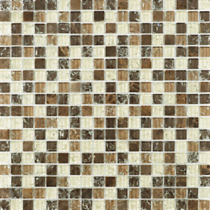 Wickes Ice Cracked Capricorn Mosaic Tile 300 x 300mm