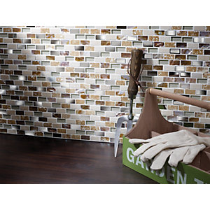 Wickes Cream Pearl Mix Mosaic Tile 285 x 300mm