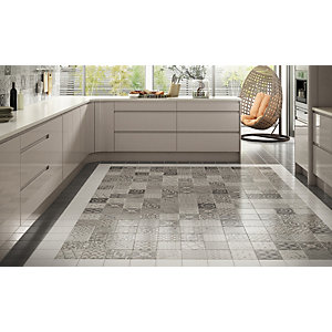 Wickes Nostalgic Collection Concrete Londres White Wall & Floor Tile 180 x 180mm