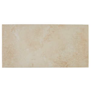 Wickes Brook Beige Glazed Porcelain 300 x 600mm Pack 6