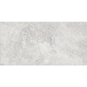 Wickes Brook Grey Glazed Porcelain Tile 300 x 600mm Pack 6