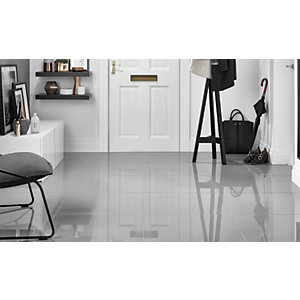 Wickes Infinity Grey Porcelain Floor & Wall Tile 300 x 600mm