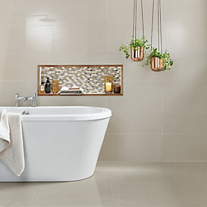 Wickes Infinity Ivory Porcelain Floor & Wall Tile 300 x 600mm Pack 6