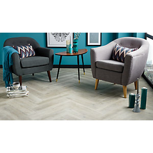 Wickes Arden Weathered Grey Wood Effect Matt Porcelain Floor & Wall Tile 150 x 600mm Pack 11