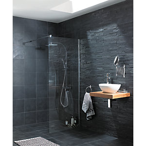 Wickes Riven Grey Matt Slate Floor Tile 300x300mm