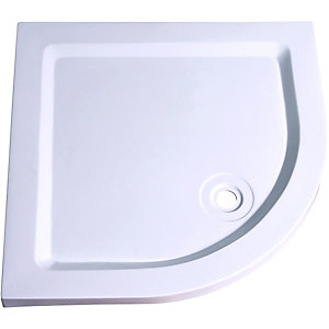 Wickes 40mm Stone Resin Quadrant Shower Tray White 900mm