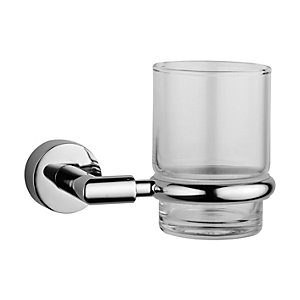 Vitra Chrome and Glass Minimax Toothbrush Holder