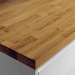 Wickes Solid Wood Dark Oak Breakfast Bar 38x900mmx2m
