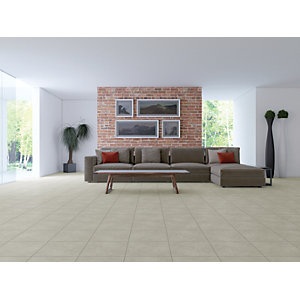 Wickes/Home Interiors/Tiles/Wickes Valencia Ivory Glazed Porcelain Floor Tile 330x330mm