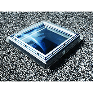 Velux Cfp 100100 S00g Flat Roof Window White Fixed Clear Glass 1180 x 1180mm
