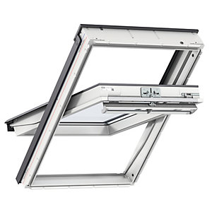 VELUX GGU MK04 0050 Roof Window White Centre Pivot Clear Glass 980x780mm