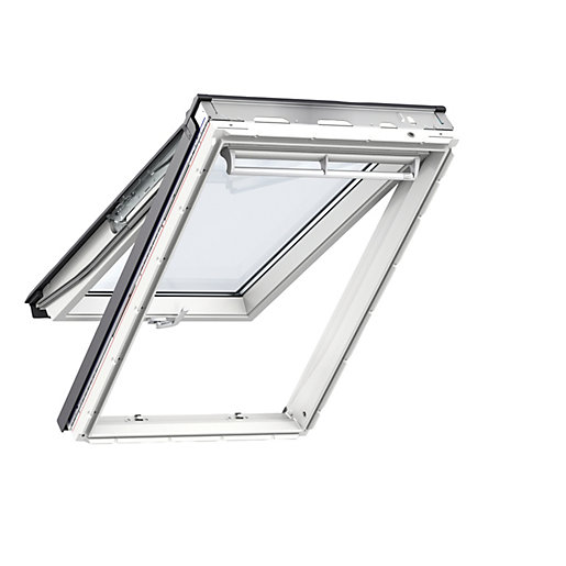 velux gpu sk06 0060 roof window white top hung clear glass. Black Bedroom Furniture Sets. Home Design Ideas