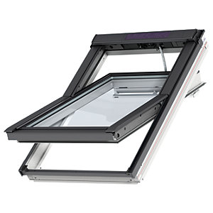 VELUX INTEGRA Solar White Painted Centre Pivot Roof Window 660 x 1180mm