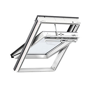 VELUX White Polyurethane Window 550 x 980mm Centre Pivot Integra Electric GGUCK04007021U