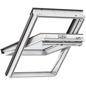 Velux White Polyurethane Window 550mm x 980mm Centre Pivot 50 Pane Glazing GGUCK040050