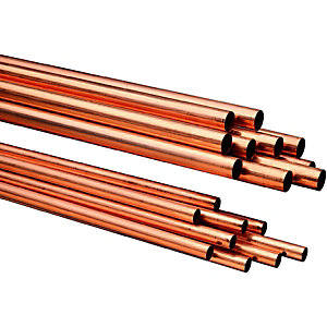 Wickes Copper Tube 28mm x 3m Pack 10