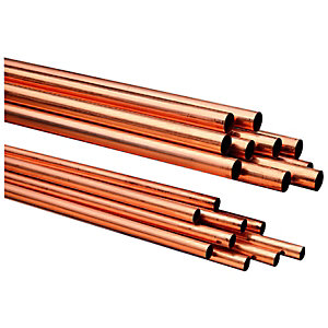 Wickes Copper Tube 22mmx2m Pack 10