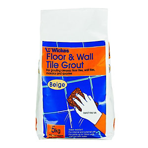 Wickes Wall & Floor Tile Grout Beige 5kg