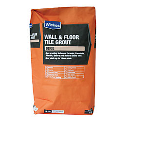 Wickes Wall & Floor Tile Grout Beige 12.5kg