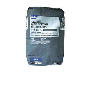 Wickes Flexible Rapid Set Tile Adhesive 12.5kg