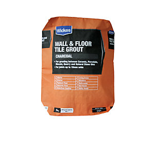 Wickes Wall & Floor Tile Grout Charcoal 5kg