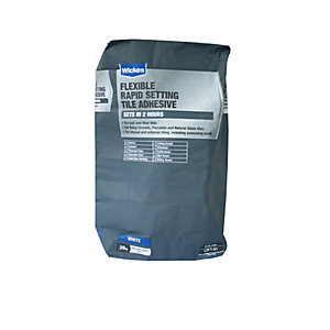 Wickes Flexible Rapid Set Tile Adhesive 20kg