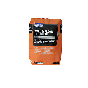 Wickes Wall & Floor Tile Grout Grey 5kg