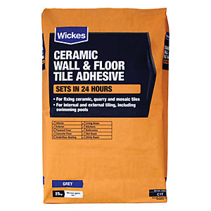 Wickes Ceramic Tile Adhesive Grey 25kg