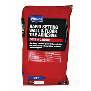 Wickes Rapid Setting Tile Adhesive 12.5kg