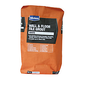 Wickes Wall & Floor Tile Grout White 12.5kg
