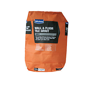 Wickes Wall & Floor Tile Grout Grey 12.5kg