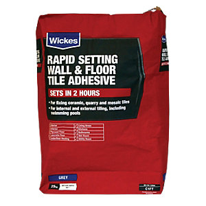 Wickes Rapid Setting Tile Adhesive 25kg