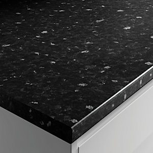 Wickes Worktop Matt Laminate Black Slate 3000 x 600 x 38 mm