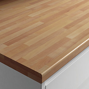 Wickes Worktop Matt Laminate Cherry Block Effect 3000 x 600 x 38 mm
